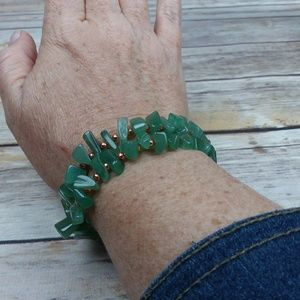 NWT Green Aventurine Bracelets with Copper Accents